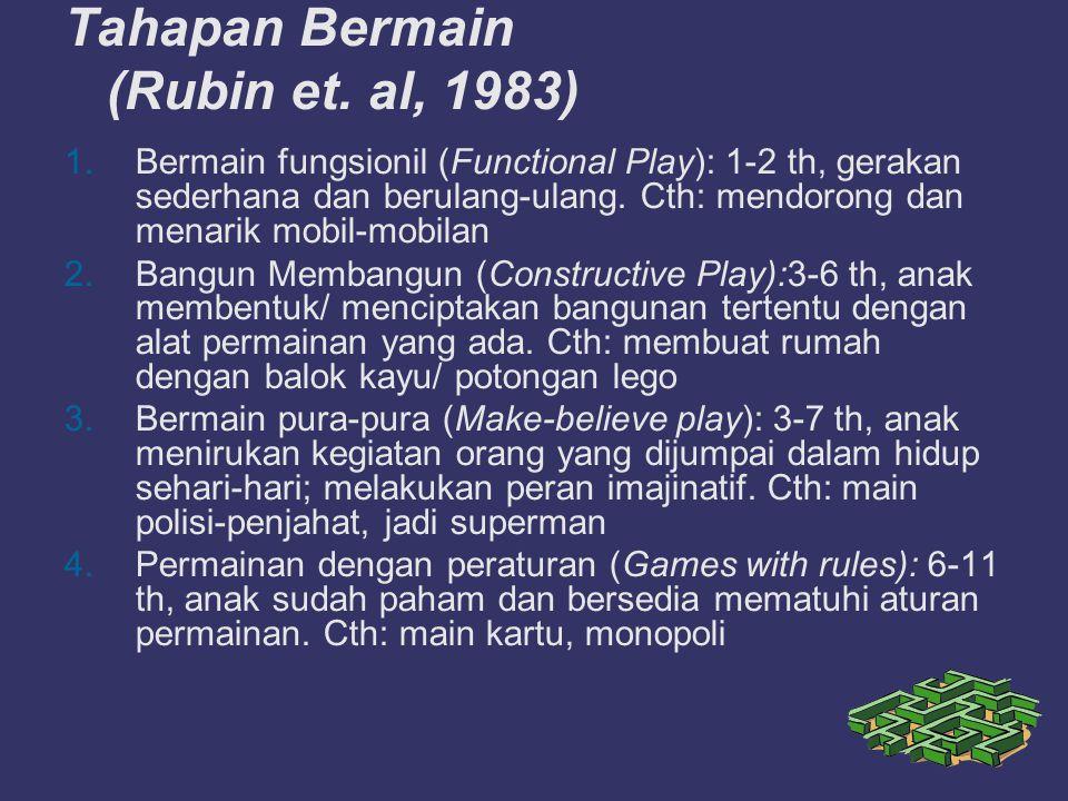 Tahapan Bermain (Rubin et.