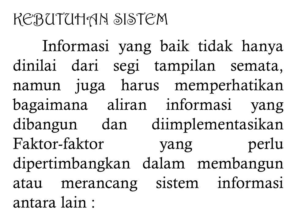 d. Para pemakai juga memiliki peran sebagai penguji atas kualitas sistem yang dibangun karena mereka yang akan menggunakan dan mengoperasikan sistem,