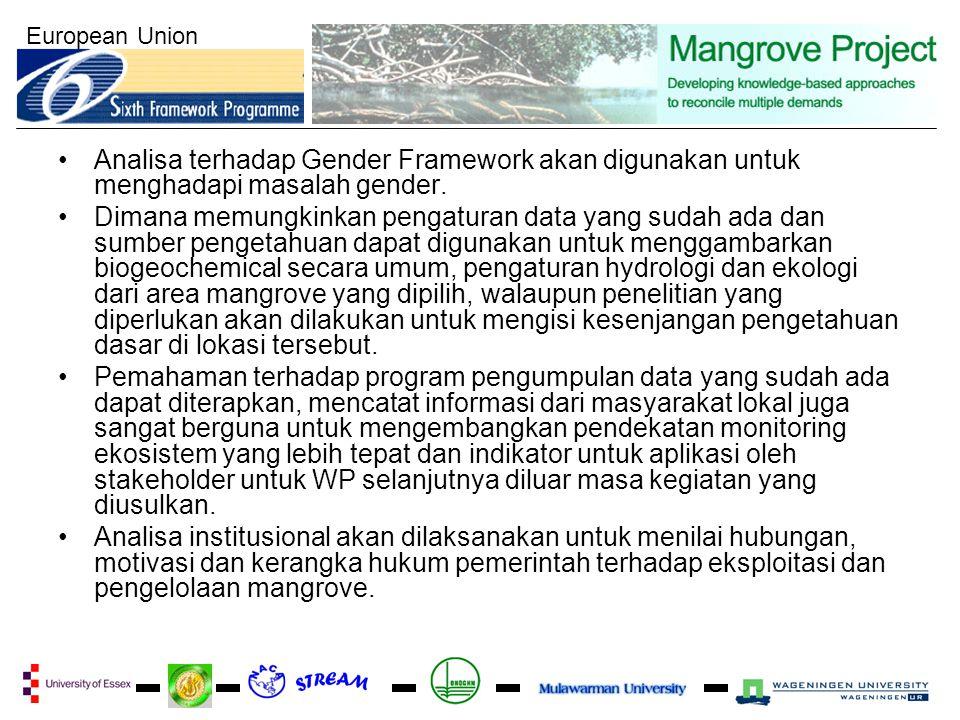 European Union Analisa terhadap Gender Framework akan digunakan untuk menghadapi masalah gender. Dimana memungkinkan pengaturan data yang sudah ada da