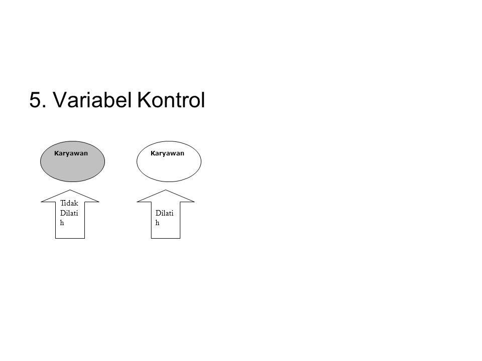 5. Variabel Kontrol Karyawan Tidak Dilati h Dilati h
