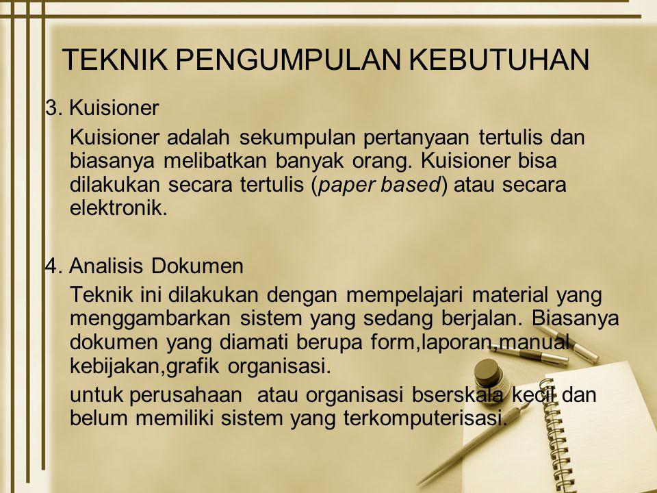 TEKNIK PENGUMPULAN KEBUTUHAN 3.