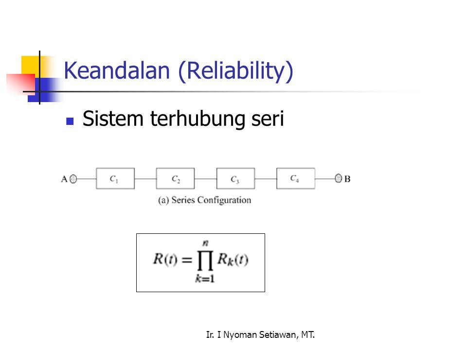 Ir. I Nyoman Setiawan, MT. Keandalan (Reliability) Sistem terhubung seri
