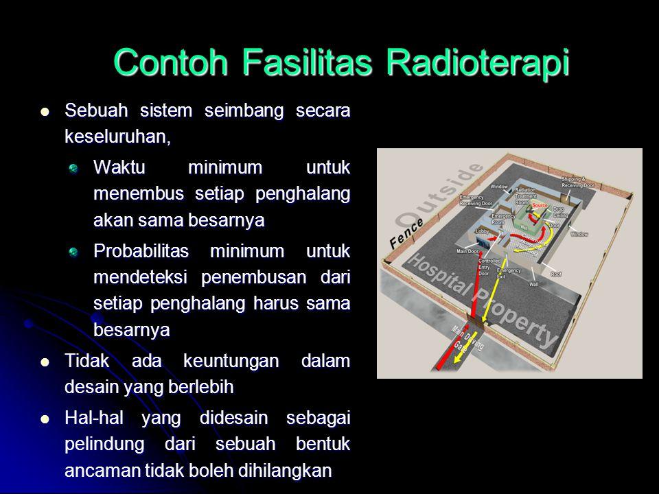 Contoh Fasilitas Radioterapi Sebuah sistem seimbang secara keseluruhan, Sebuah sistem seimbang secara keseluruhan, Waktu minimum untuk menembus setiap