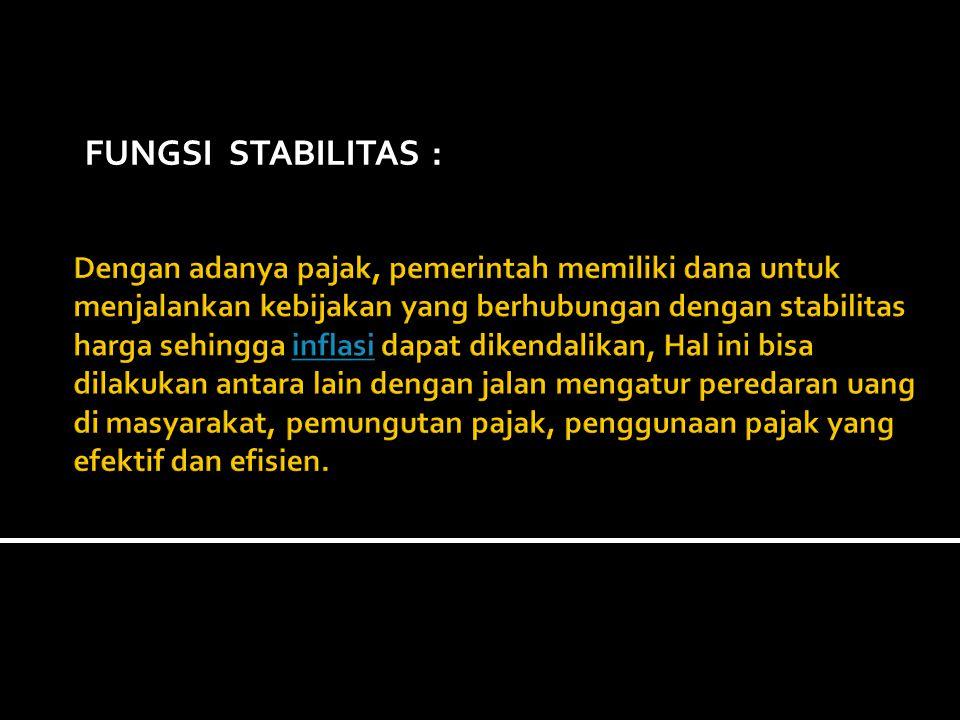 FUNGSI STABILITAS :