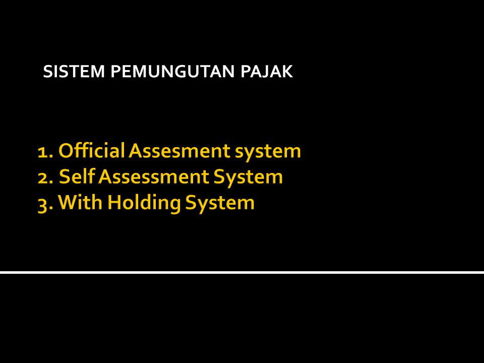 Official Assesment system