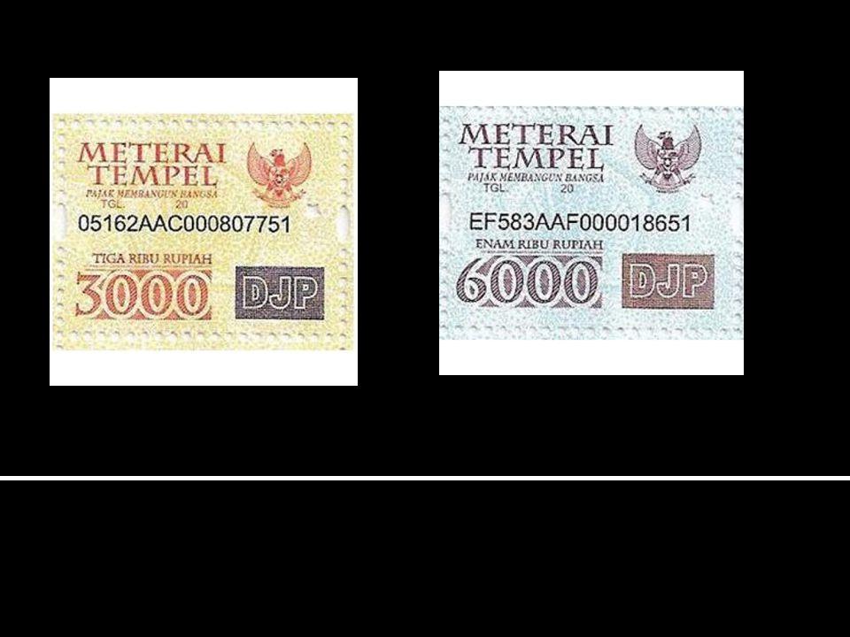 Dikenakan Bea Meterai dengan tarif Rp.3.000,- 1.
