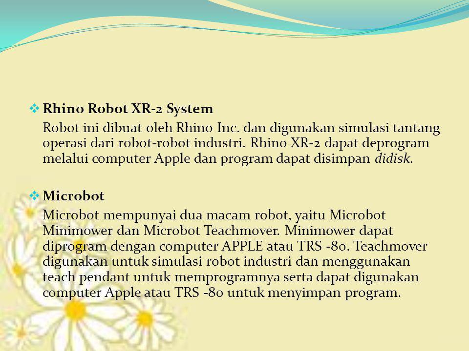  Rhino Robot XR-2 System Robot ini dibuat oleh Rhino Inc.