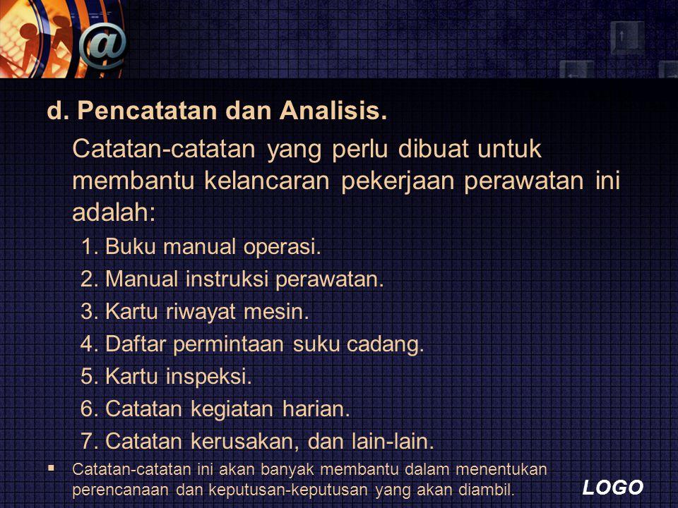 LOGO d.Pencatatan dan Analisis.
