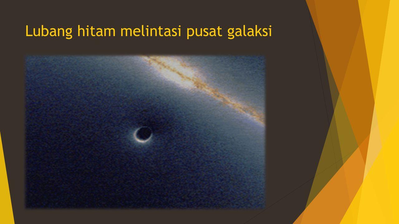 Lubang hitam melintasi pusat galaksi