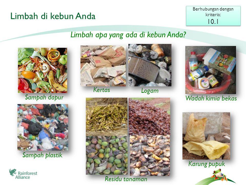Membuang sampah Berhubungan dengan kriteria: 4.7 (critical), 10.5 Berhubungan dengan kriteria: 4.7 (critical), 10.5 Sampah akan mencemari lingkungan jika dibuang.