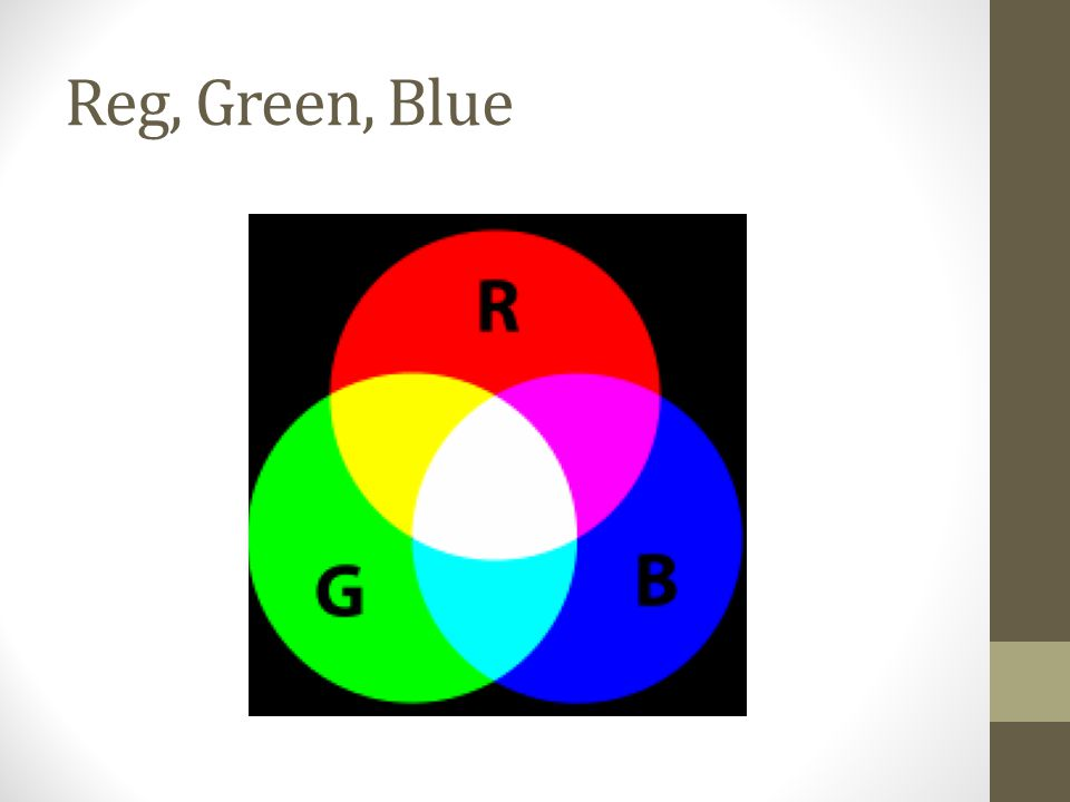 Reg, Green, Blue