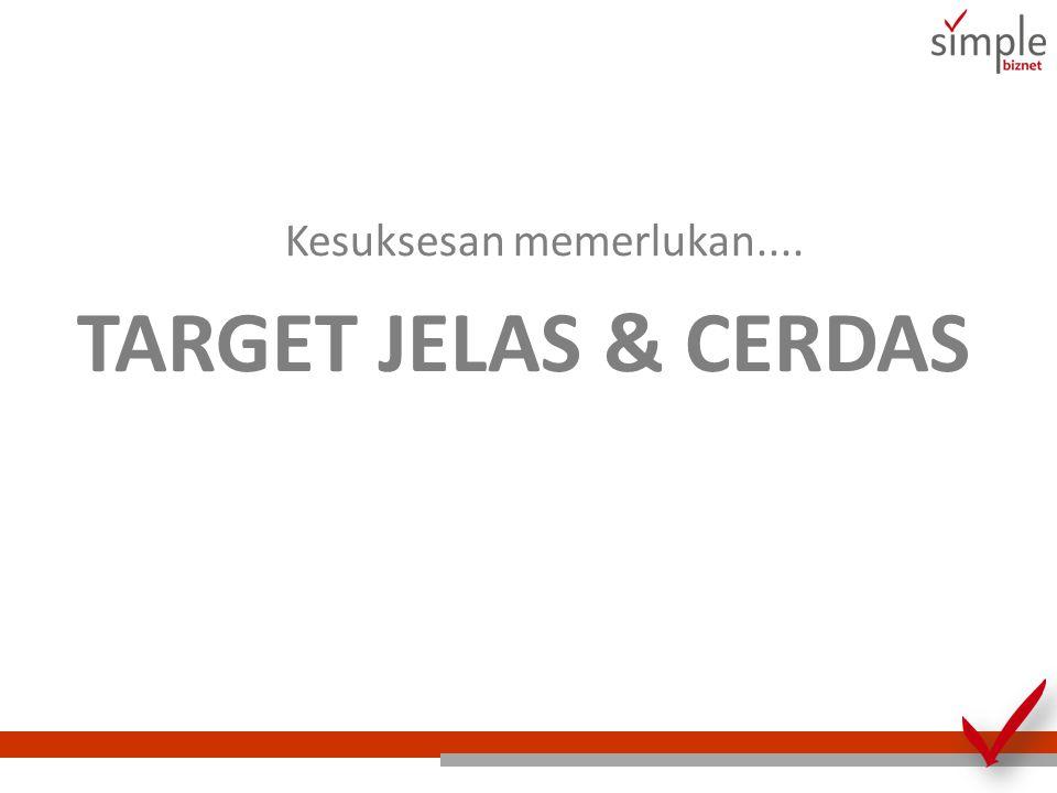 Kesuksesan memerlukan.... TARGET JELAS & CERDAS