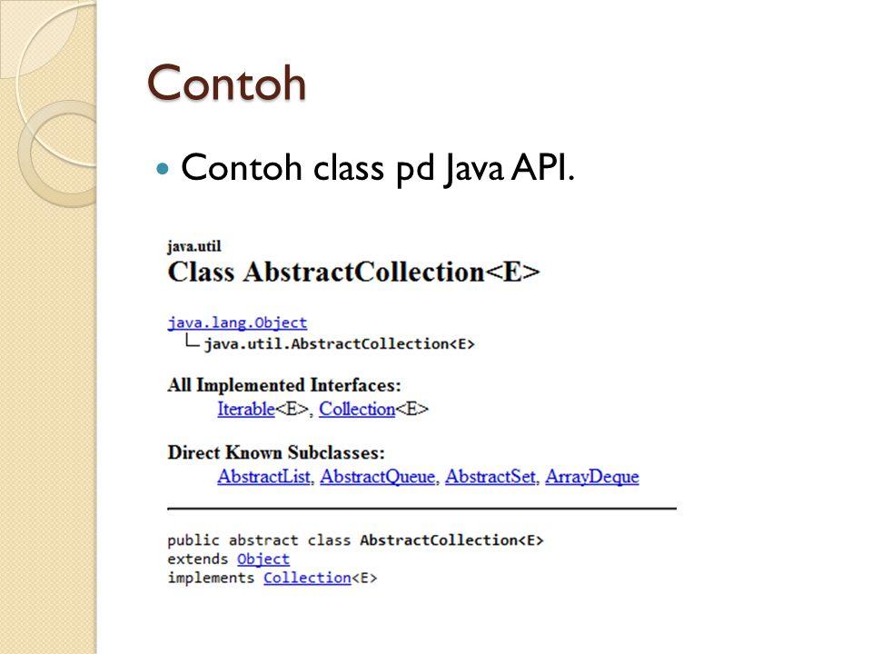 Contoh Contoh class pd Java API.
