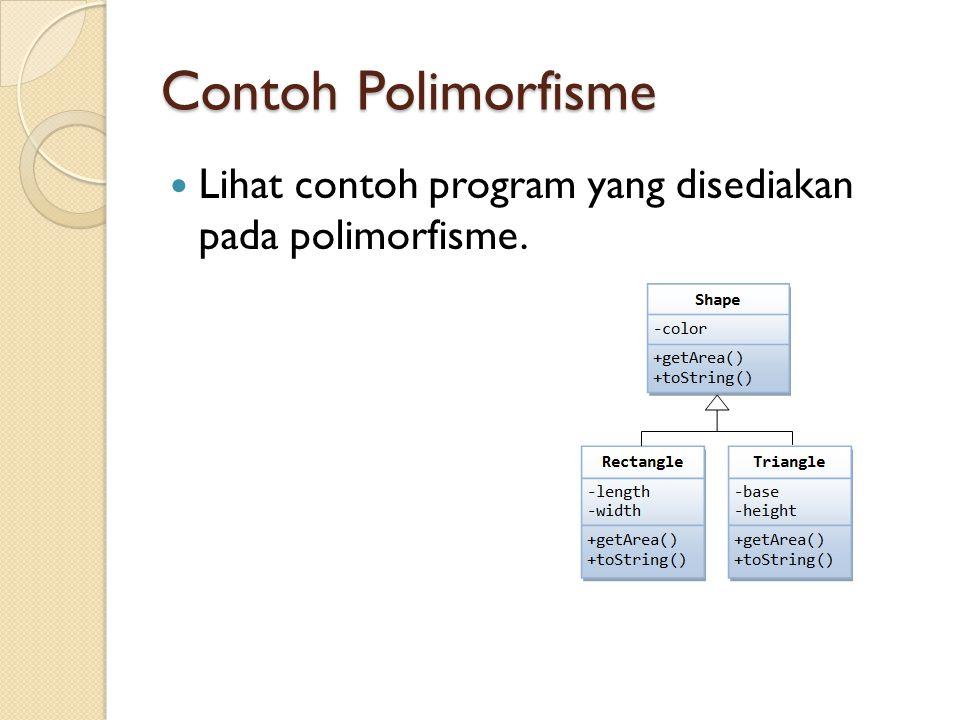 Catatan Method abstract tidak dapat dideklarasi final.