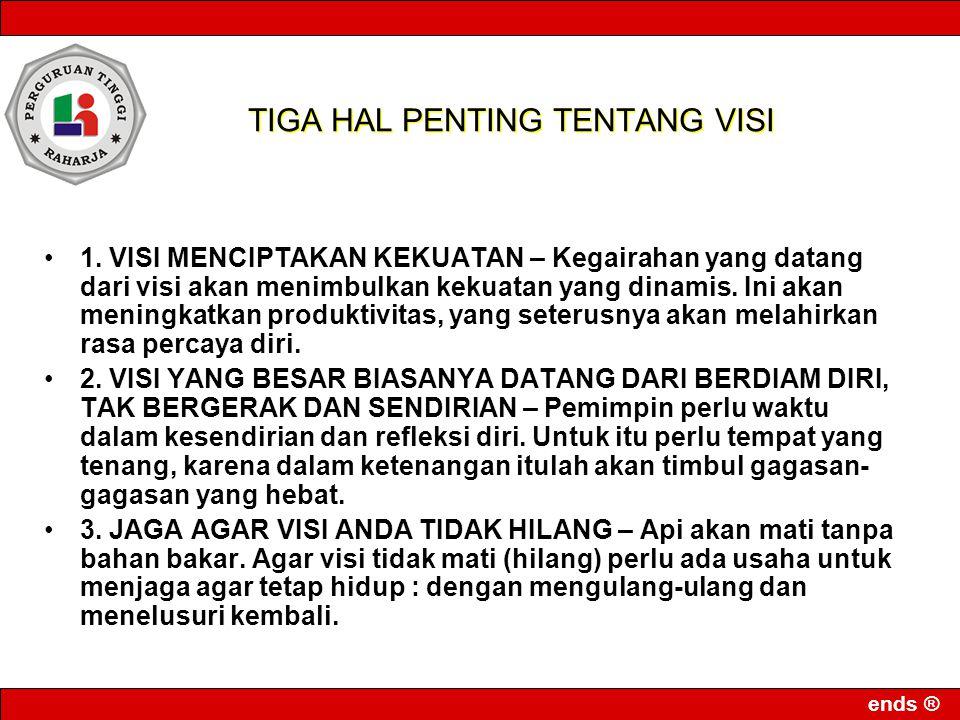 ends ® TIGA HAL PENTING TENTANG VISI 1.