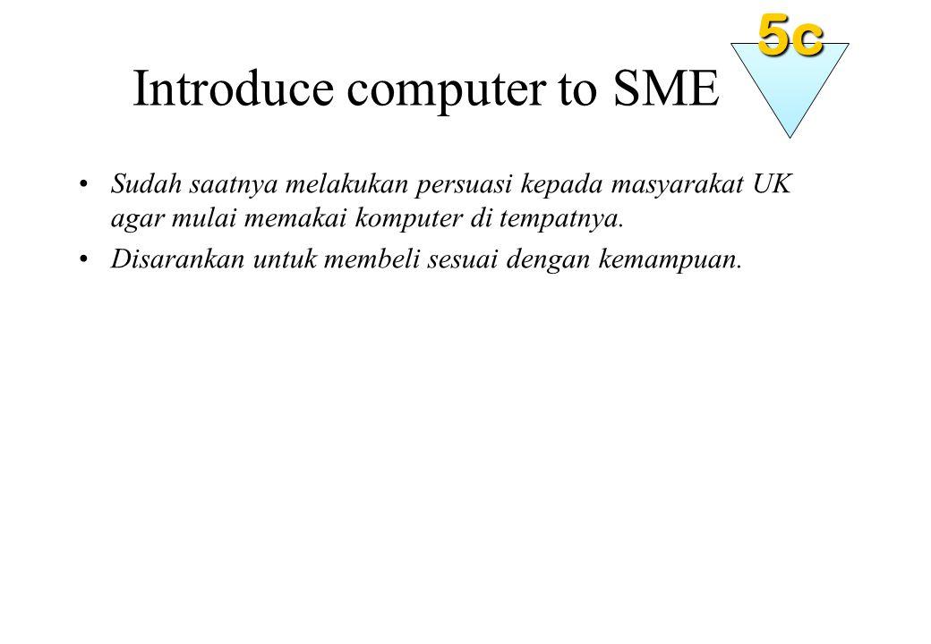 Introduce computer to SME Sudah saatnya melakukan persuasi kepada masyarakat UK agar mulai memakai komputer di tempatnya.