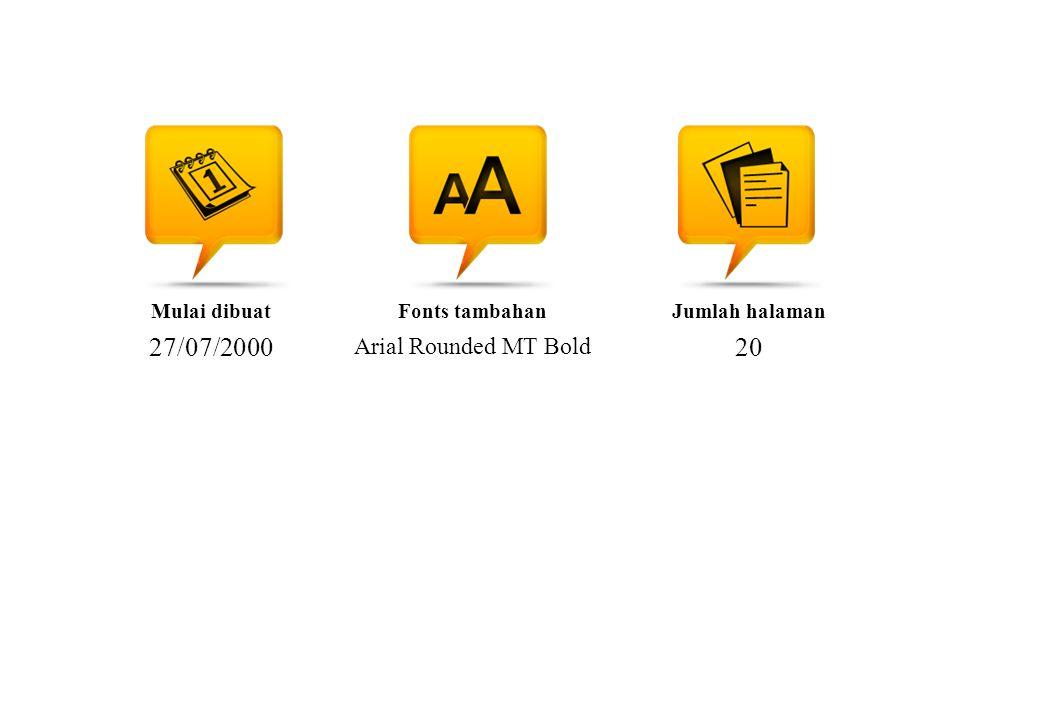 Mulai dibuat 27/07/2000 Fonts tambahan Arial Rounded MT Bold Jumlah halaman 20