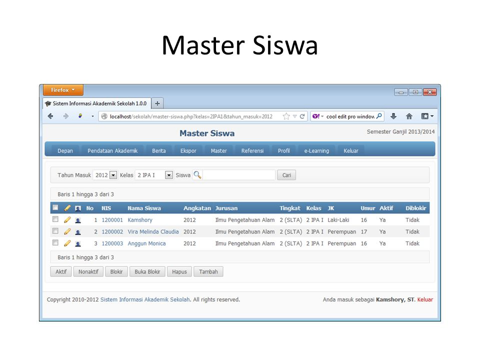 Master Siswa
