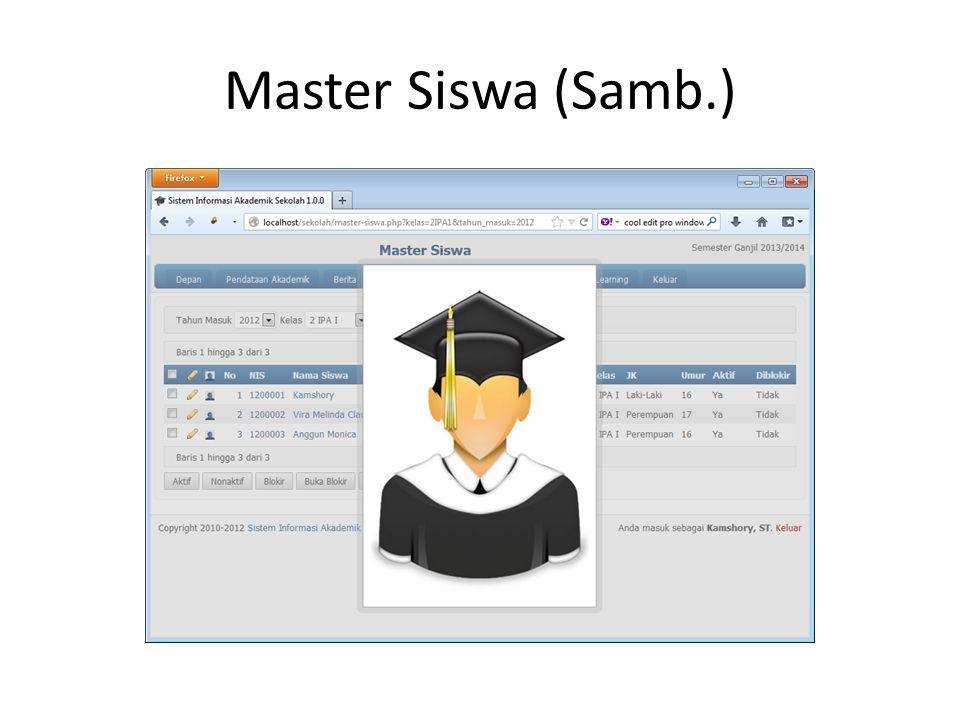 Master Siswa (Samb.)