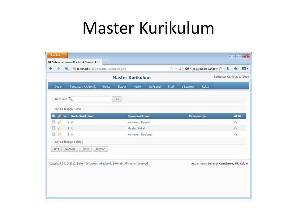Master Kurikulum