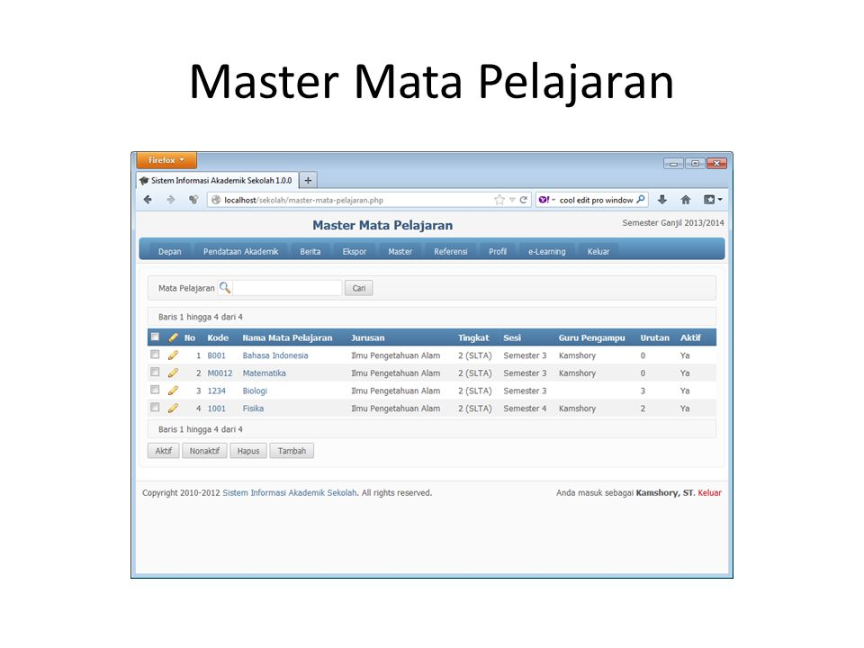 Master Mata Pelajaran