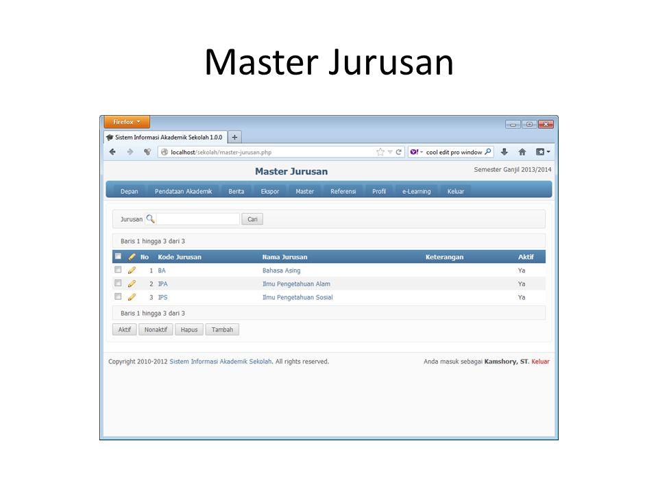 Master Jurusan