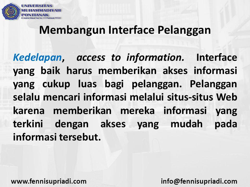 Membangun Interface Pelanggan Kedelapan, access to information.