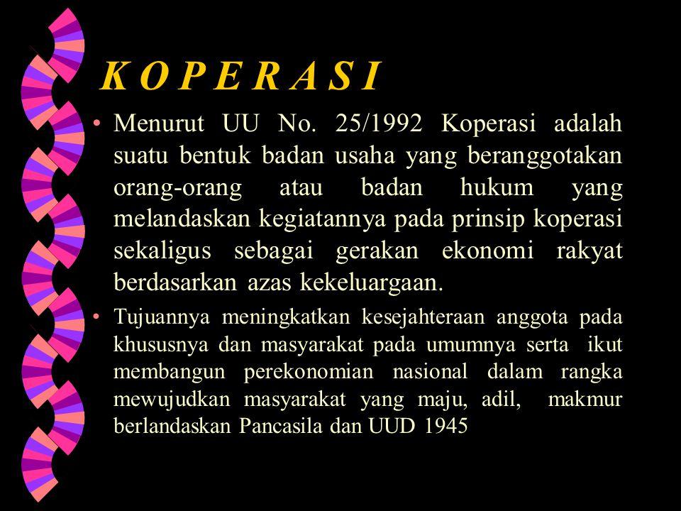 K O P E R A S I Menurut UU No.