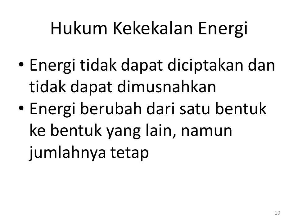 Energi Mekanik Jumlah energi potensial gravitasi dan energi kinetik 9