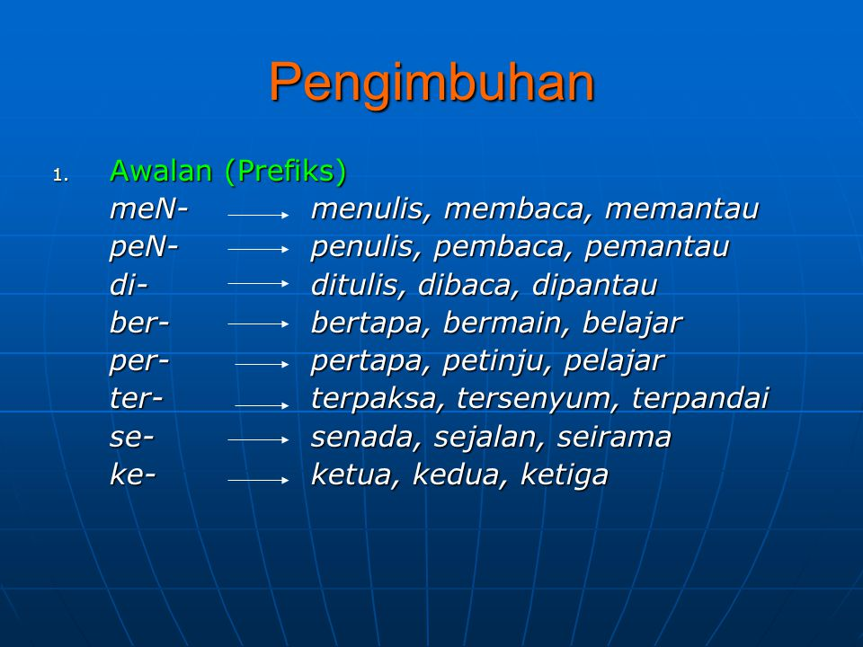 Keserasian a.penggunaan bentuk gramatikal suatu kata b.
