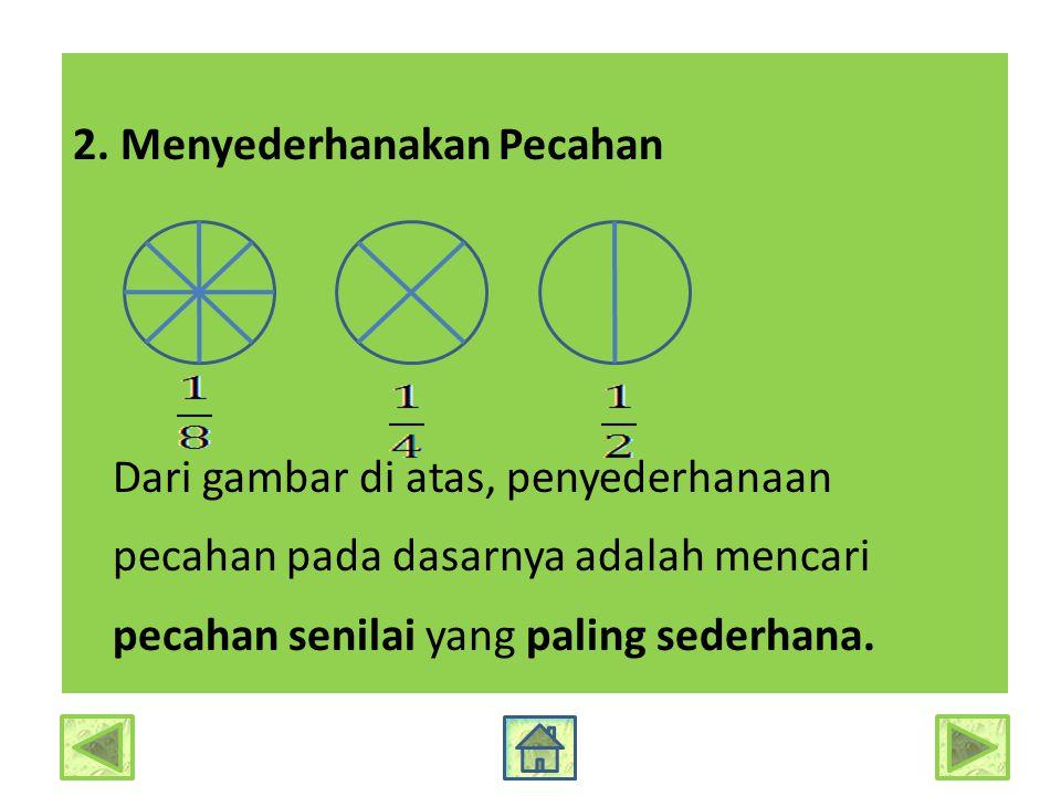 3.Mengurutkan Pecahan Garis bilangan dapat dimanfaatkan untuk mengurutkan pecahan....