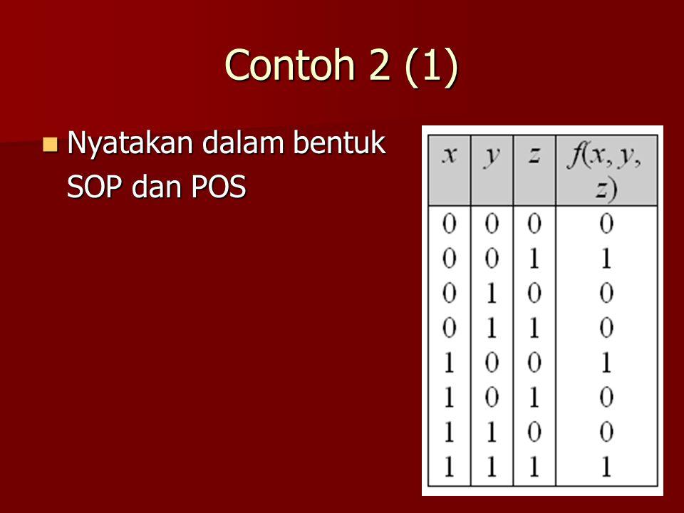 Contoh 2 (1) Nyatakan dalam bentuk Nyatakan dalam bentuk SOP dan POS