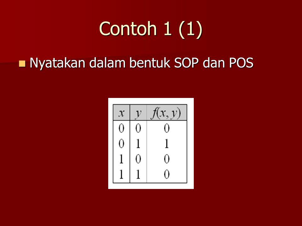 Contoh 1 (1) Nyatakan dalam bentuk SOP dan POS Nyatakan dalam bentuk SOP dan POS