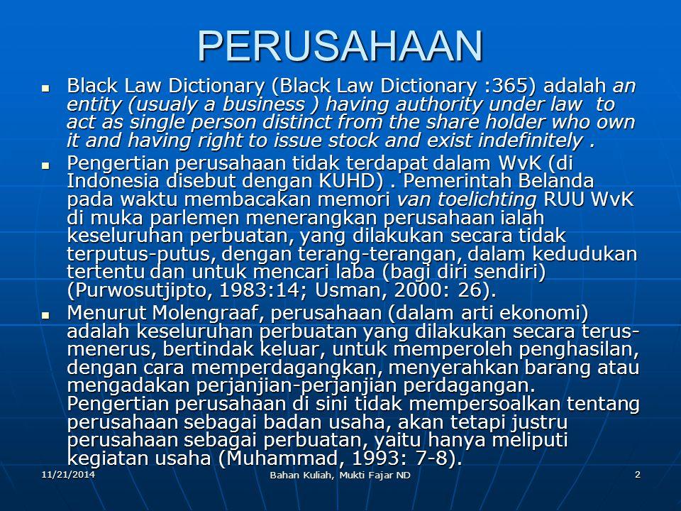 11/21/2014 Bahan Kuliah, Mukti Fajar ND 23 Organ P.T.