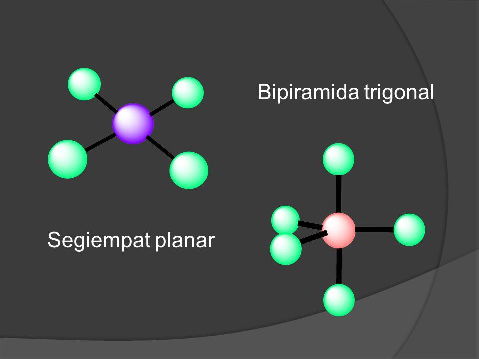 Segiempat planar Bipiramida trigonal
