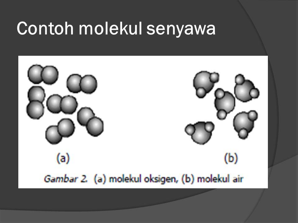 Contoh molekul senyawa