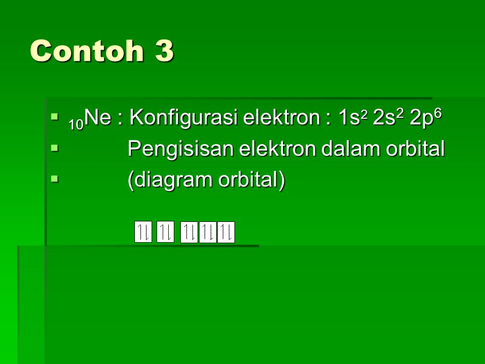 Kaidah/Aturan Hund  Jika sub kulit memiliki lebih dari satu orbital, maka elektron-elektron yang mengisi orbital-orbital tersebut cenderung untuk tidak berpasangan, sebab struktur semacam itu memiliki energi yang lebih rendah di bandingkan jika elektron- elektron itu berpasangan.