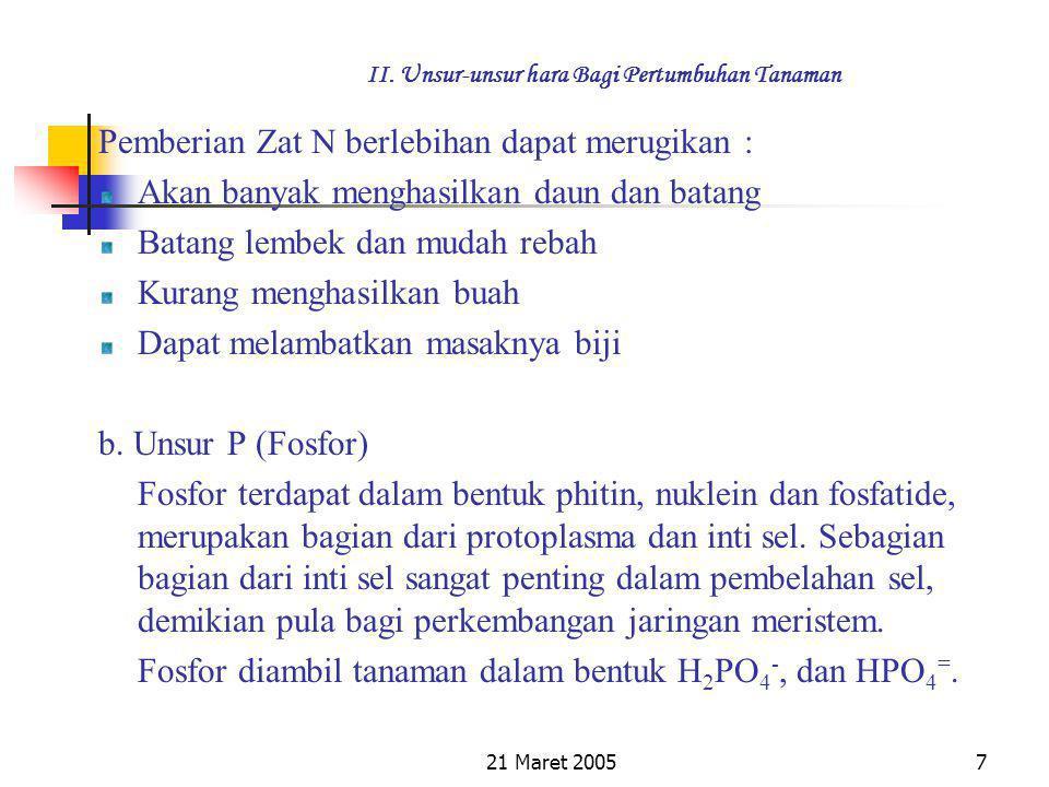 21 Maret 20057 II.