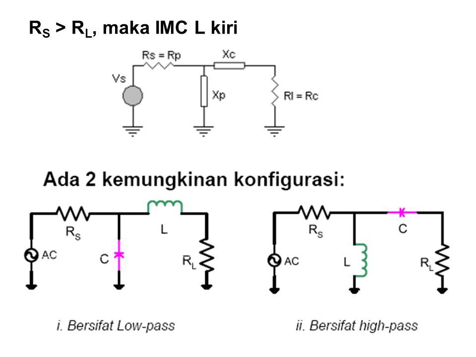 R S > R L, maka IMC L kiri