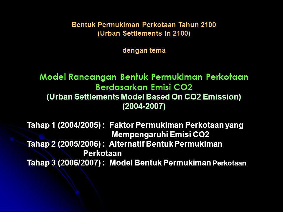 Bentuk Permukiman Perkotaan Tahun 2100 (Urban Settlements In 2100) dengan tema Model Rancangan Bentuk Permukiman Perkotaan Berdasarkan Emisi CO2 (Urba