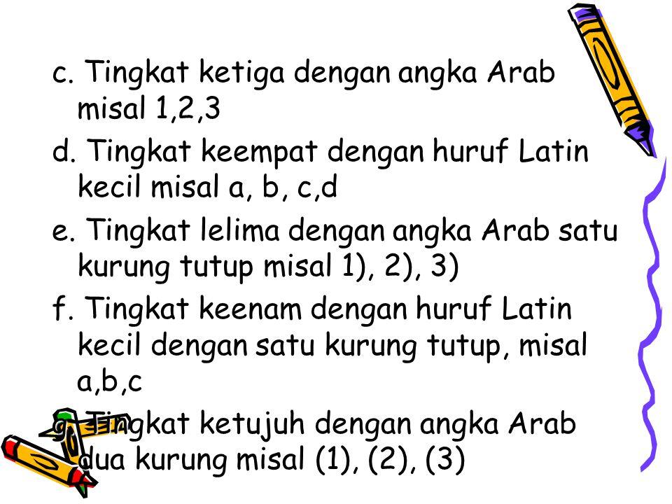 Angka Arab (1,2,3,dst.) digunakan untuk menomori halaman naskah mulai pendahuluan sampai halaman terakhir.Diketik di sebelah kanan atas, kecuali halam