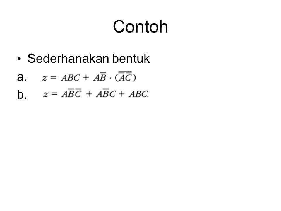 Contoh Sederhanakan bentuk a. b.