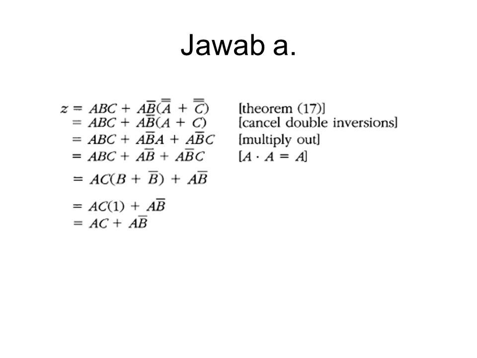 Jawab b Persamaan b sudah dalam bentuk SOP, tinggal menyederhanakan