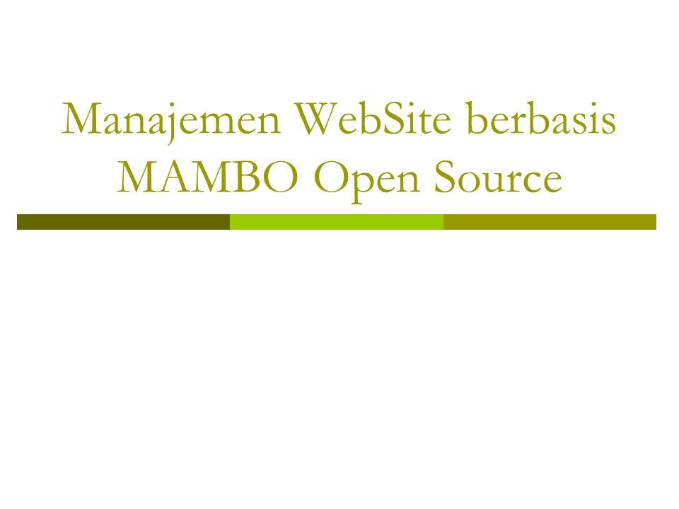 Manajemen WebSite berbasis MAMBO Open Source