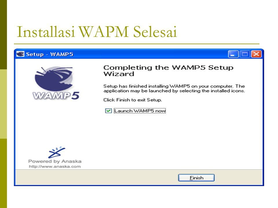 Installasi WAPM Selesai