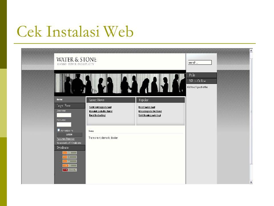 Cek Instalasi Web