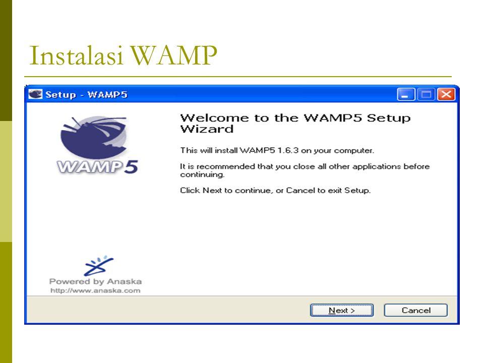 Instalasi WAMP