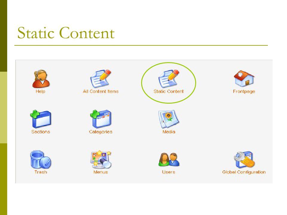 Static Content