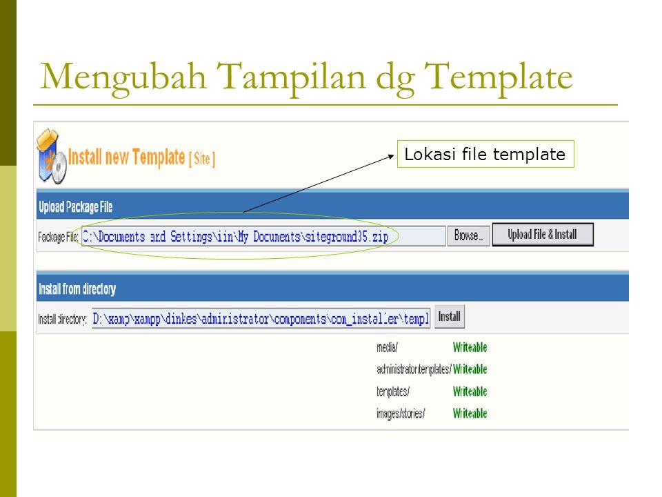 Mengubah Tampilan dg Template Lokasi file template