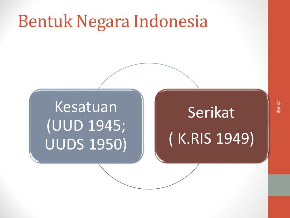 Bentuk Pemerintahan Indonesia Republik UUD 1945 K.RIS 1949 UUDS 1950 dyahpr